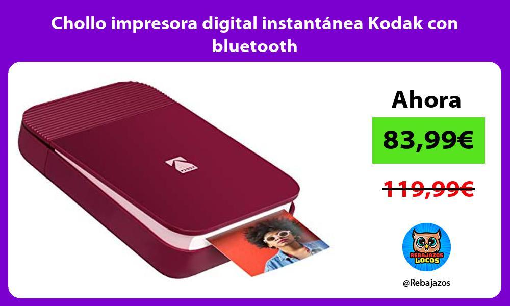 Chollo impresora digital instantanea Kodak con bluetooth