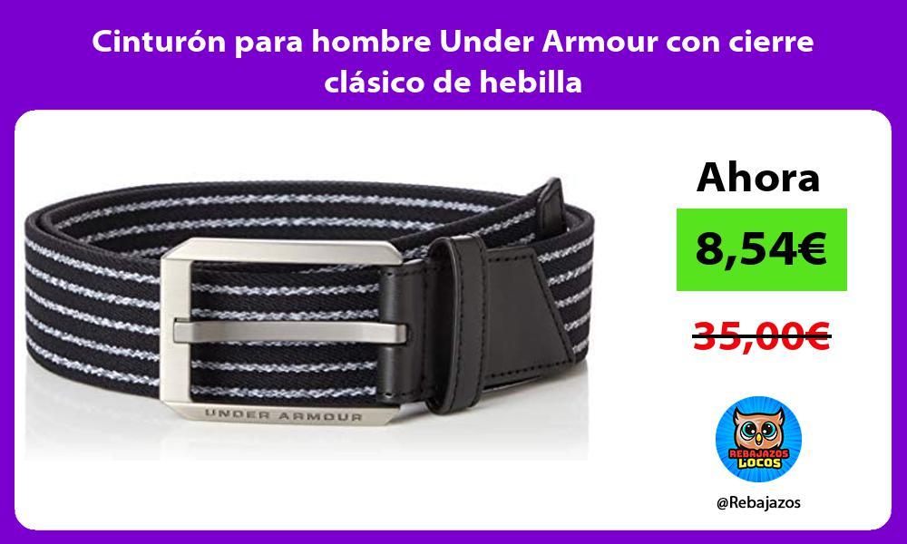 Cinturon para hombre Under Armour con cierre clasico de hebilla