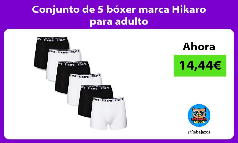 Conjunto de 5 boxer marca Hikaro para adulto