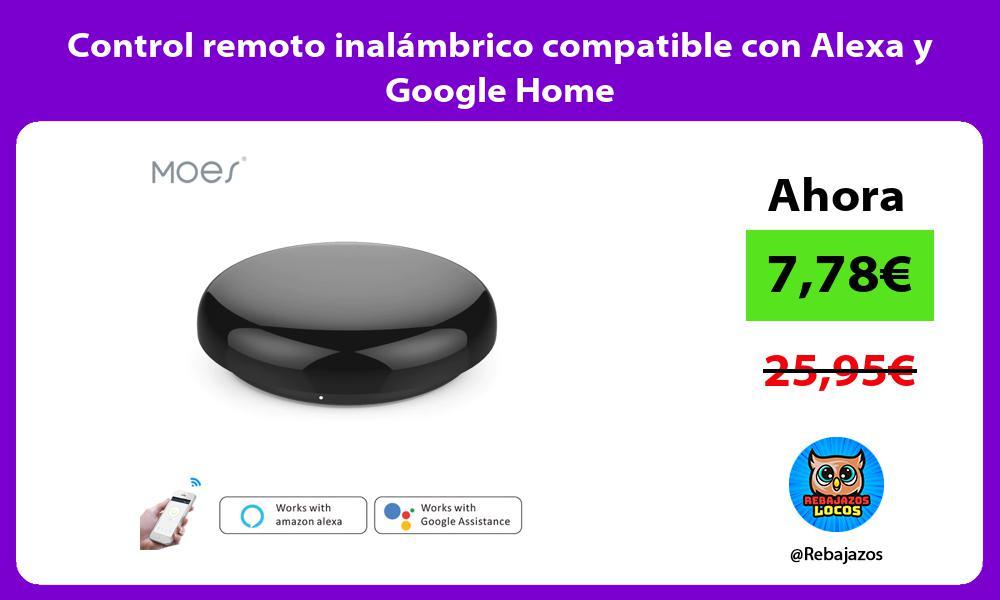 Control remoto inalambrico compatible con Alexa y Google Home