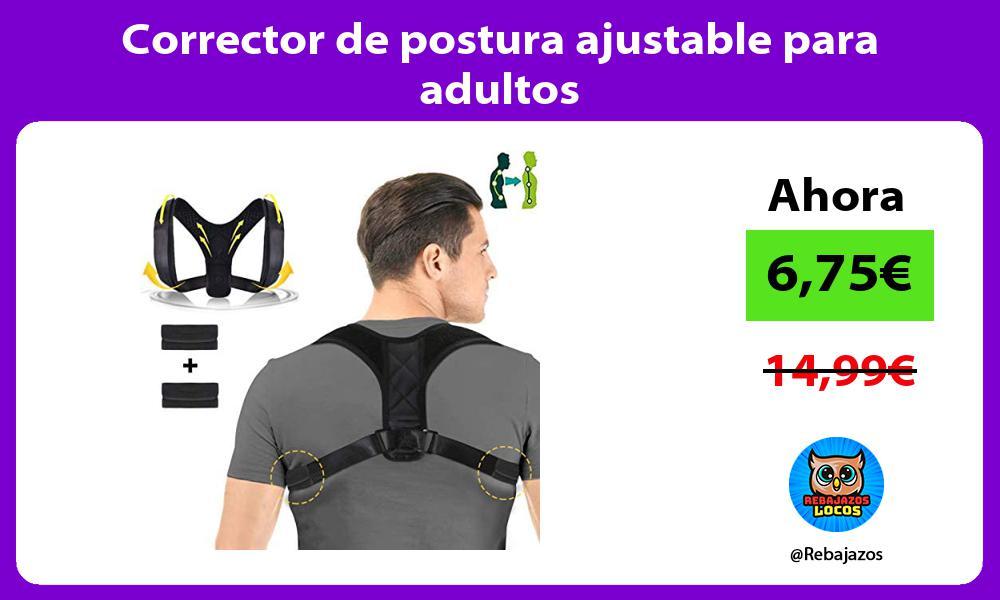Corrector de postura ajustable para adultos