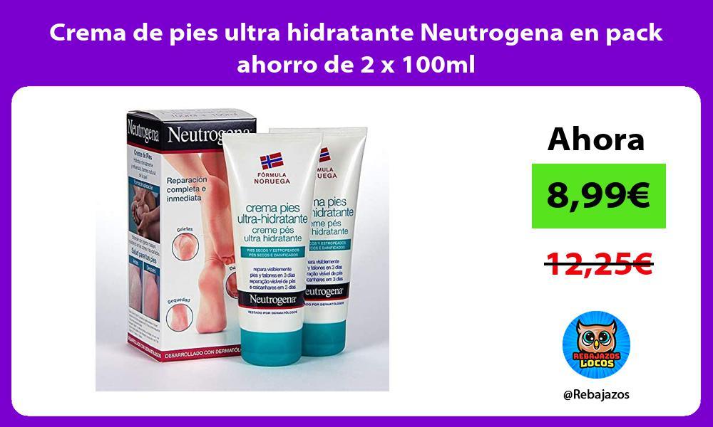 Crema de pies ultra hidratante Neutrogena en pack ahorro de 2 x 100ml