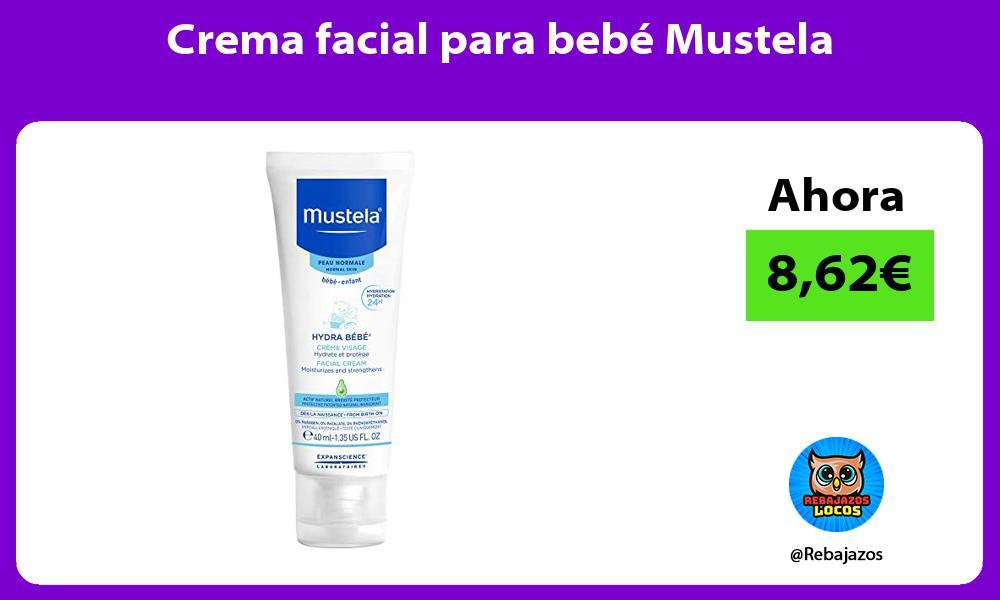 Crema facial para bebe Mustela