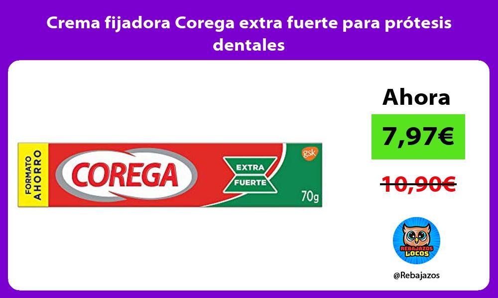 Crema fijadora Corega extra fuerte para protesis dentales