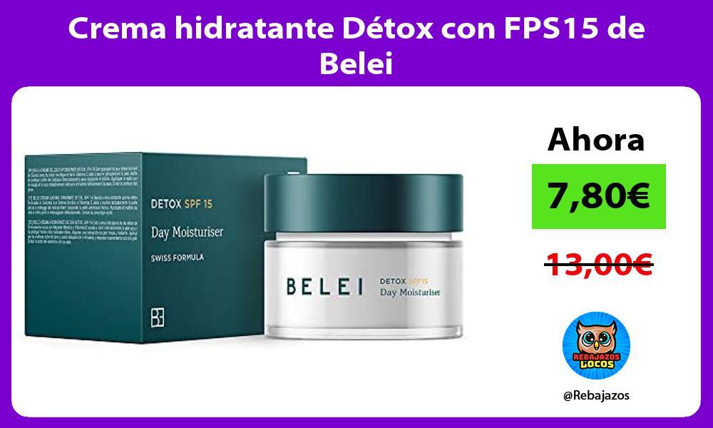Crema hidratante Detox con FPS15 de Belei