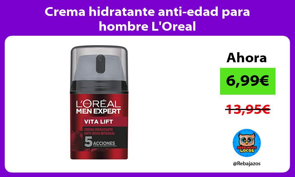 Crema hidratante anti edad para hombre LOreal