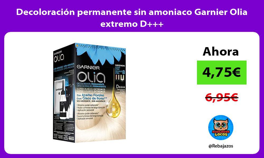 Decoloracion permanente sin amoniaco Garnier Olia extremo D