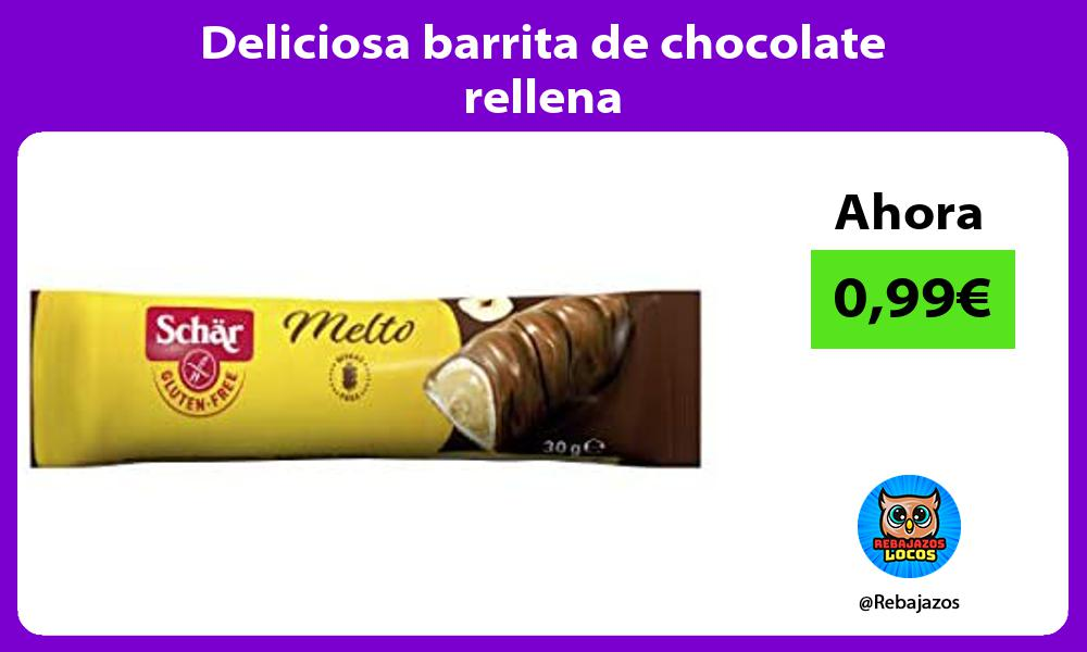 Deliciosa barrita de chocolate rellena