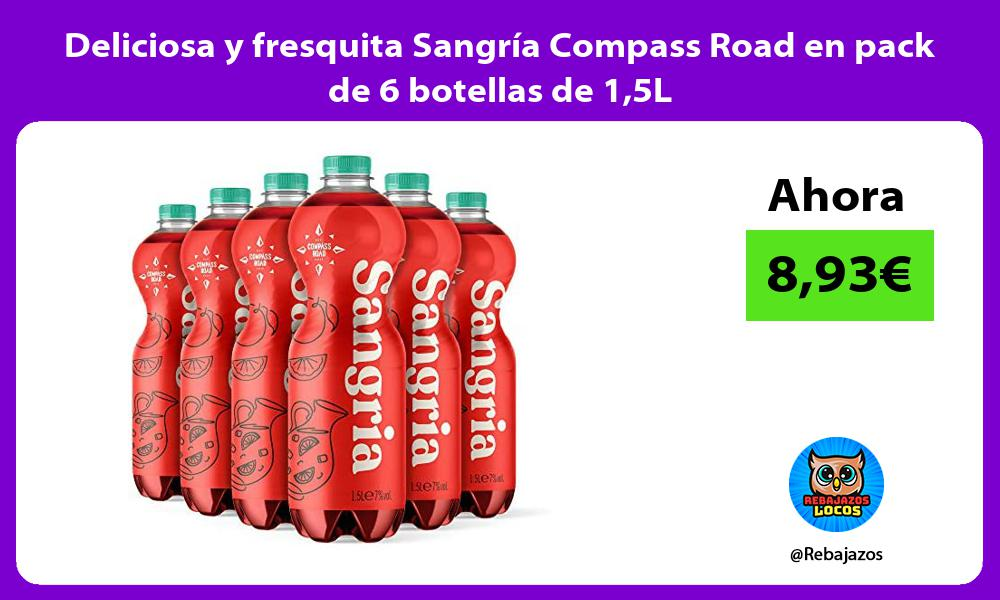 Deliciosa y fresquita Sangria Compass Road en pack de 6 botellas de 15L