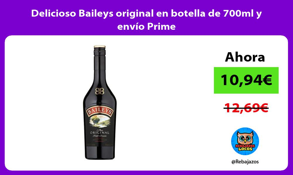 Delicioso Baileys original en botella de 700ml y envio Prime