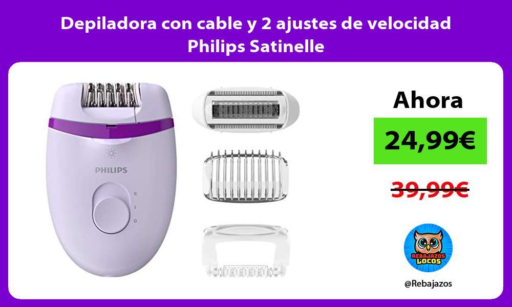 Depiladora con cable y 2 ajustes de velocidad Philips Satinelle