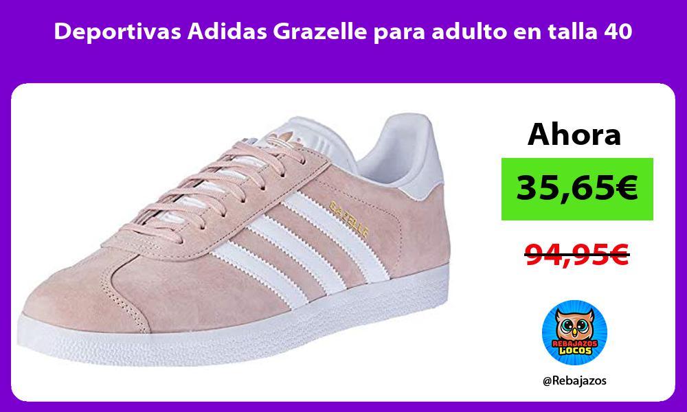 Deportivas Adidas Grazelle para adulto en talla 40