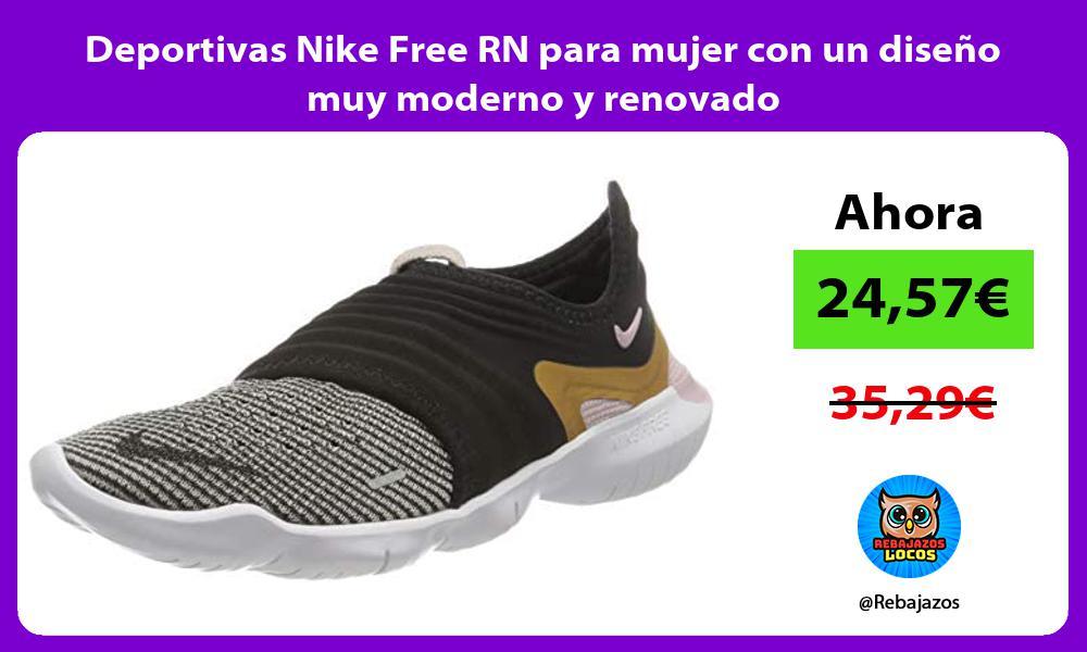 Deportivas Nike Free RN para mujer con un diseno muy moderno y renovado