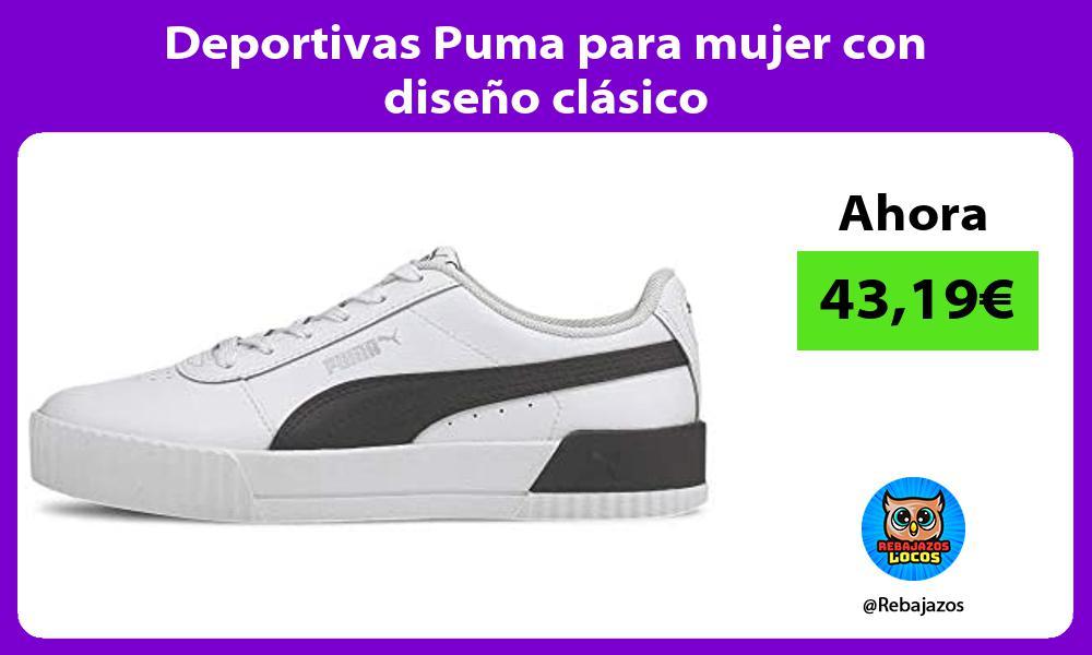 Deportivas Puma para mujer con diseno clasico