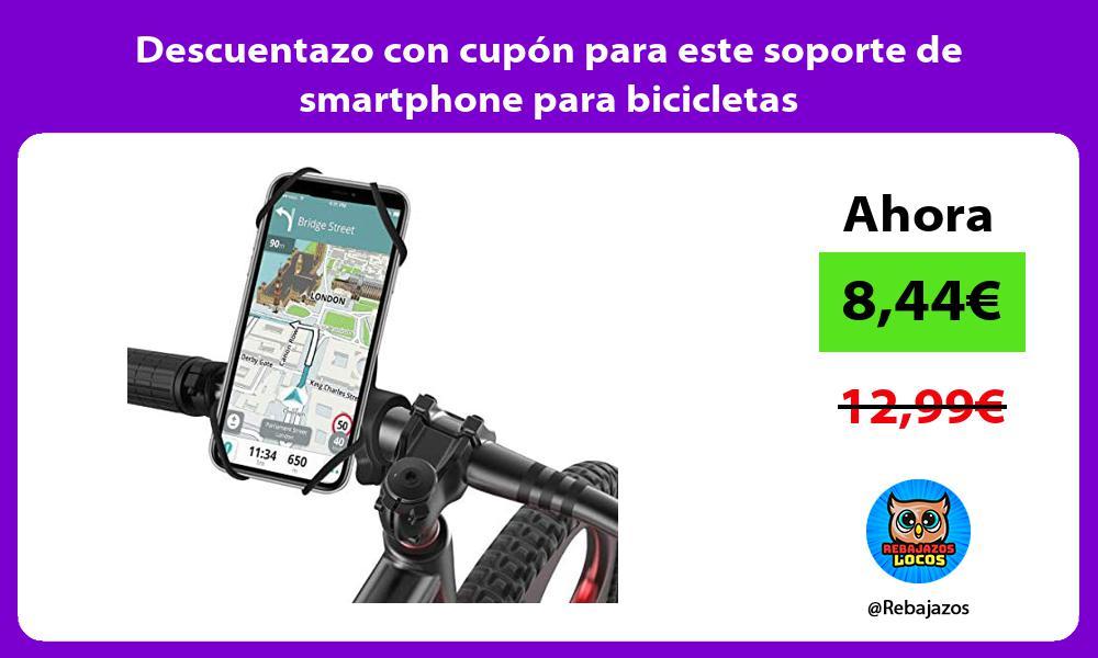Descuentazo con cupon para este soporte de smartphone para bicicletas