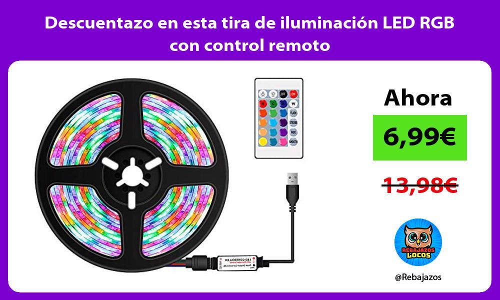 Descuentazo en esta tira de iluminacion LED RGB con control remoto