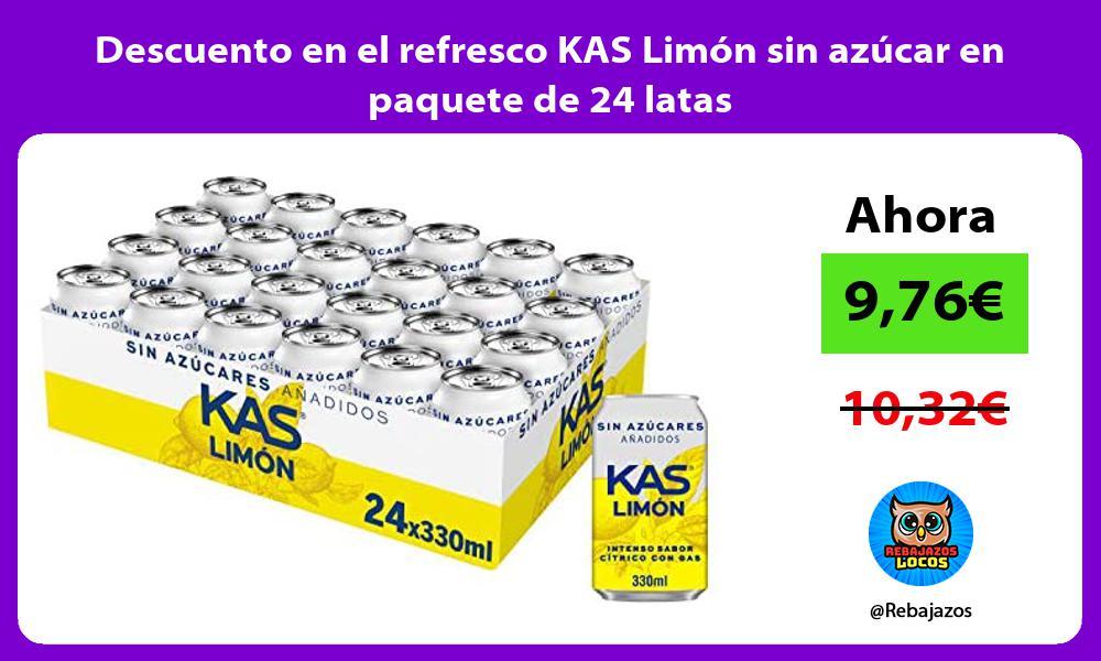 Descuento en el refresco KAS Limon sin azucar en paquete de 24 latas