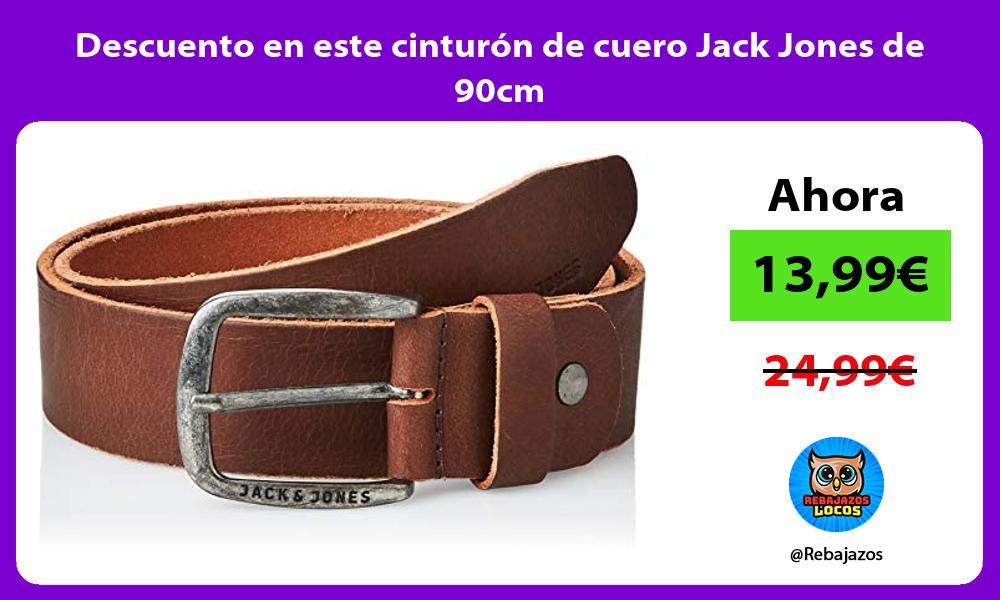 Descuento en este cinturon de cuero Jack Jones de 90cm