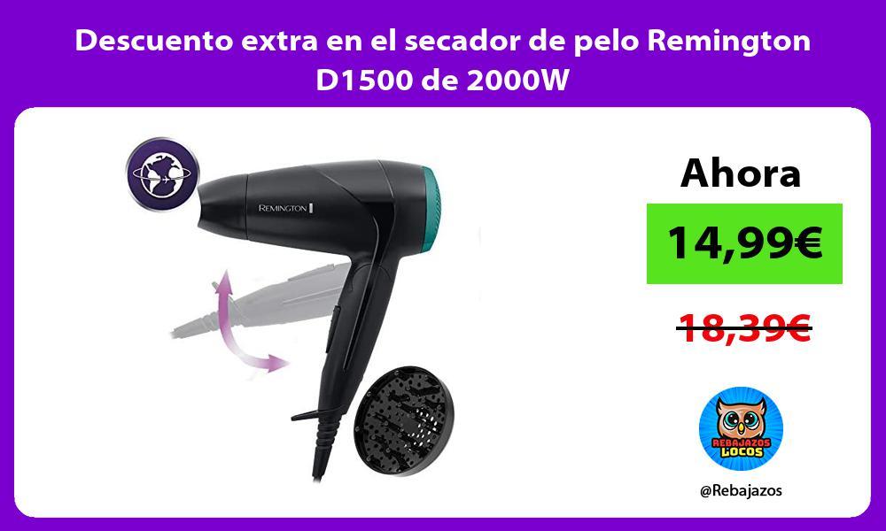 Descuento extra en el secador de pelo Remington D1500 de 2000W