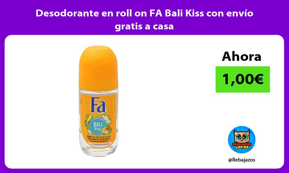 Desodorante en roll on FA Bali Kiss con envio gratis a casa