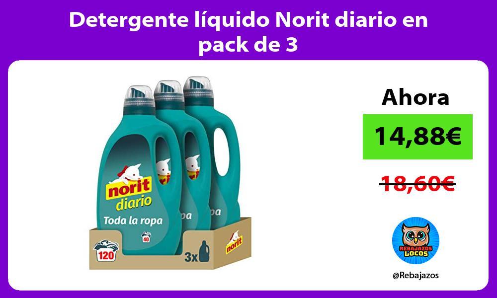 Detergente liquido Norit diario en pack de 3