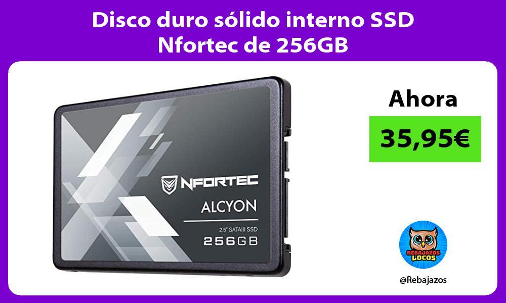 Disco duro solido interno SSD Nfortec de 256GB