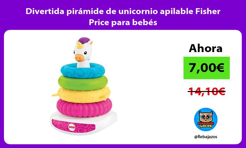 Divertida piramide de unicornio apilable Fisher Price para bebes