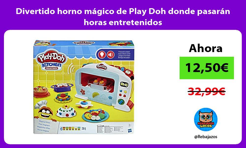 Divertido horno magico de Play Doh donde pasaran horas entretenidos