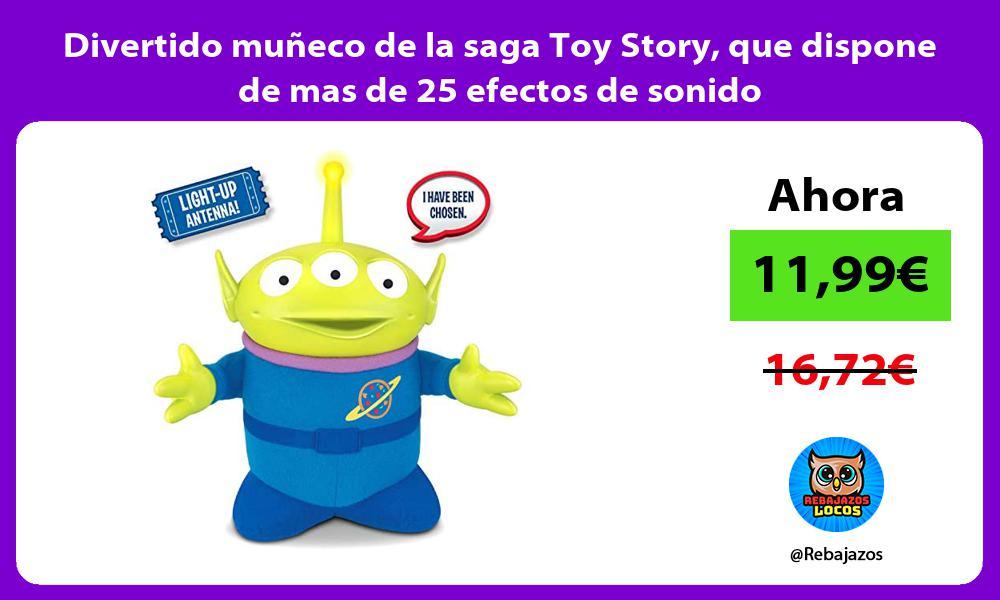Divertido muneco de la saga Toy Story que dispone de mas de 25 efectos de sonido