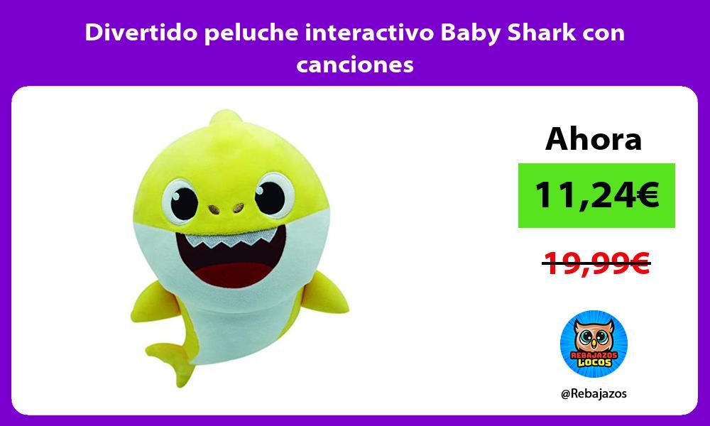 Divertido peluche interactivo Baby Shark con canciones