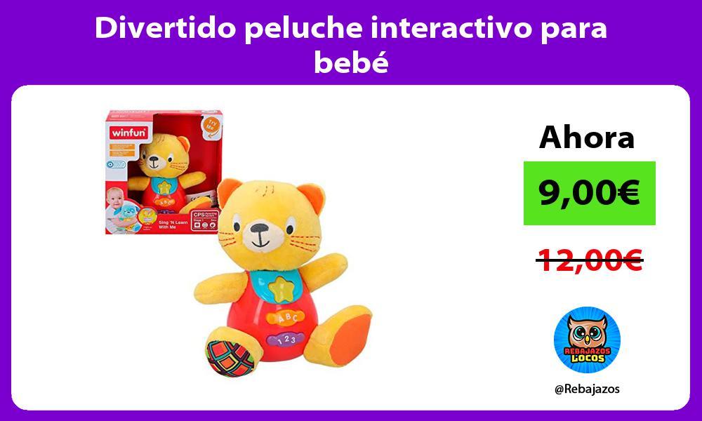 Divertido peluche interactivo para bebe