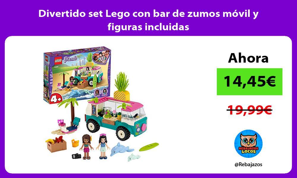 Divertido set Lego con bar de zumos movil y figuras incluidas