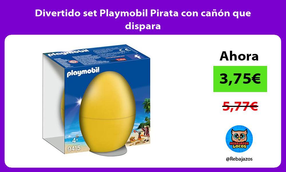 Divertido set Playmobil Pirata con canon que dispara