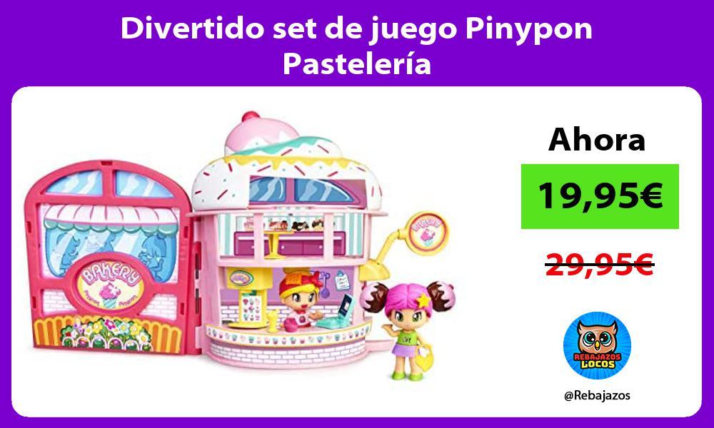Divertido set de juego Pinypon Pasteleria