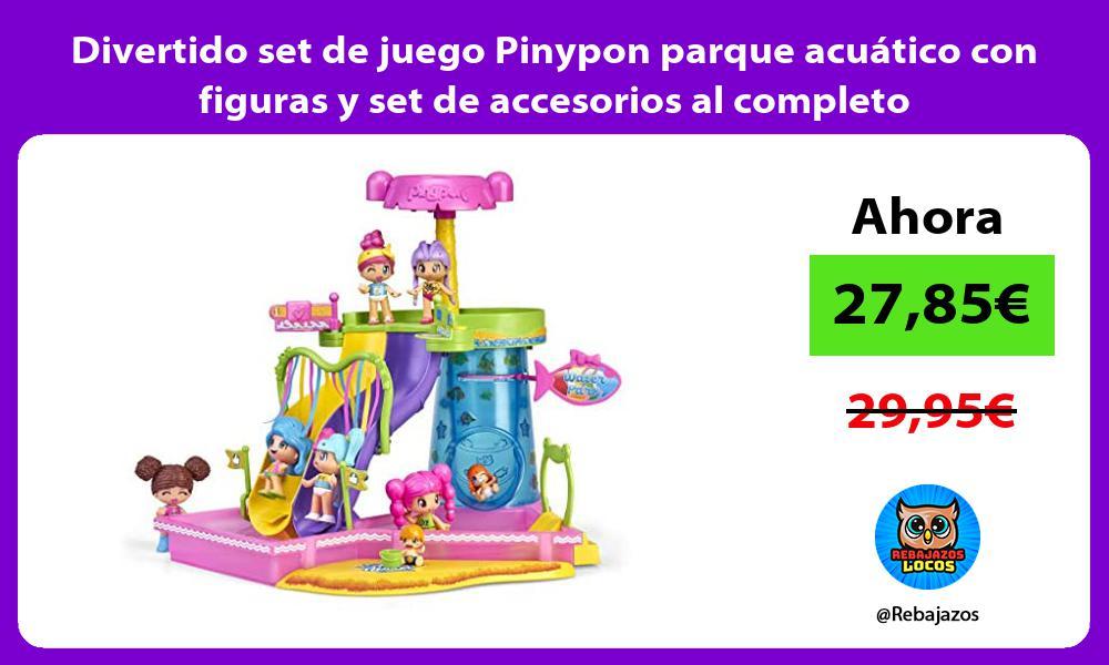 Divertido set de juego Pinypon parque acuatico con figuras y set de accesorios al completo