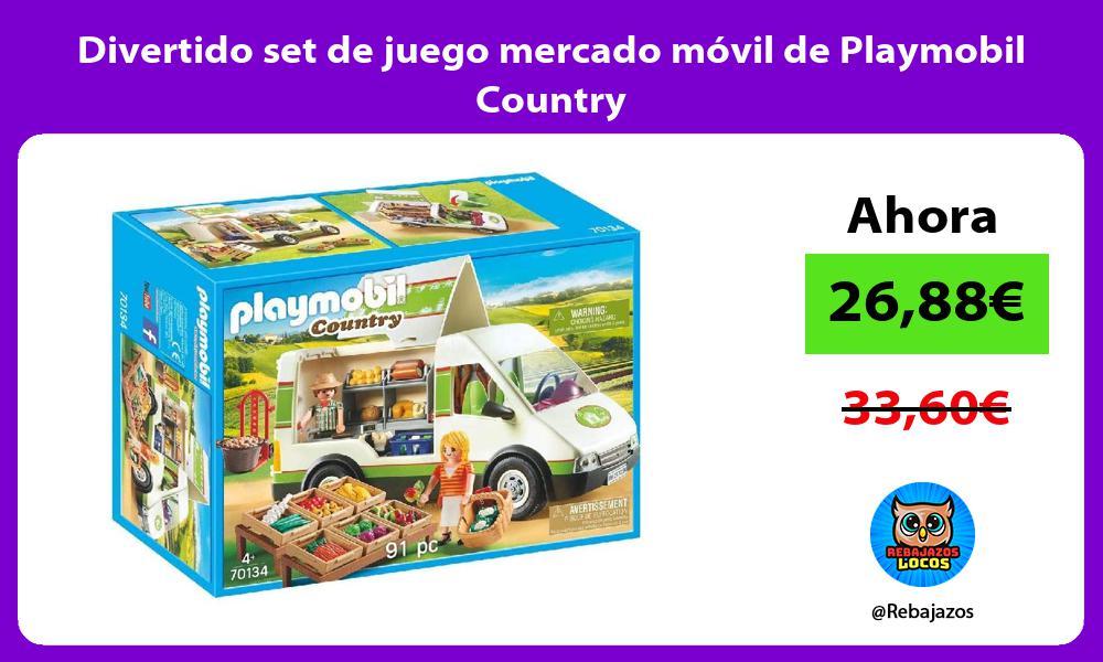 Divertido set de juego mercado movil de Playmobil Country