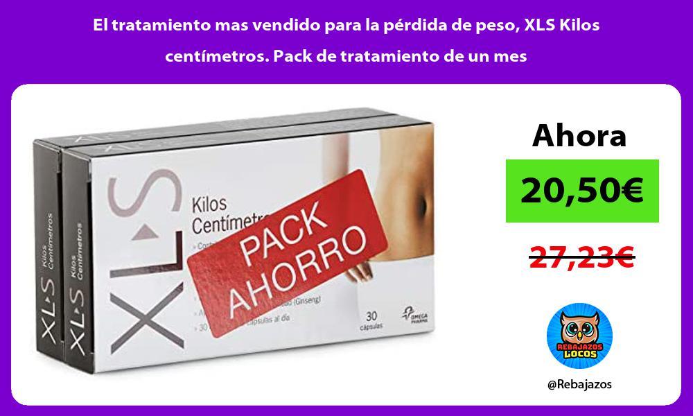El tratamiento mas vendido para la perdida de peso XLS Kilos centimetros Pack de tratamiento de un mes