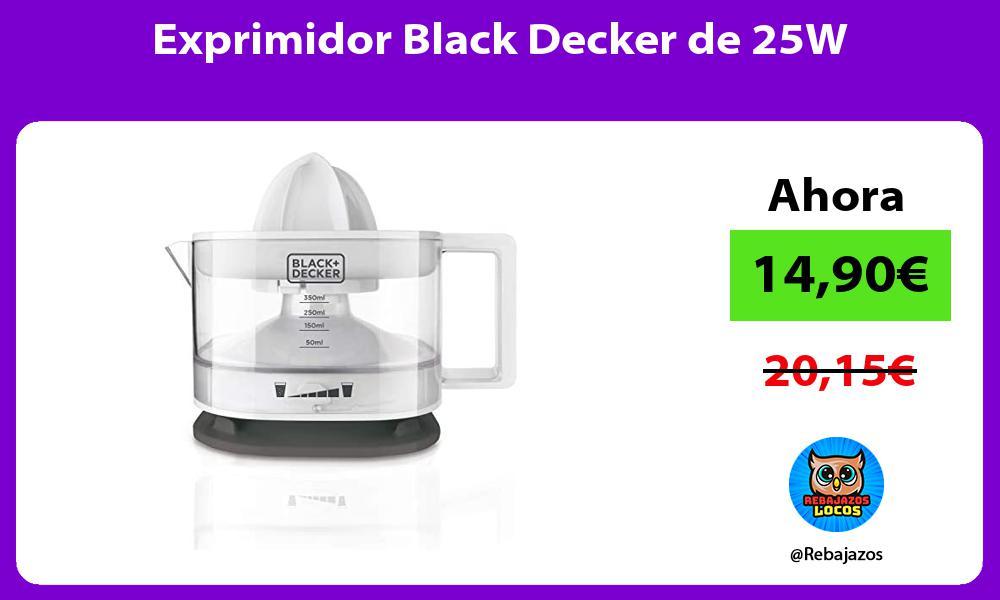 Exprimidor Black Decker de 25W