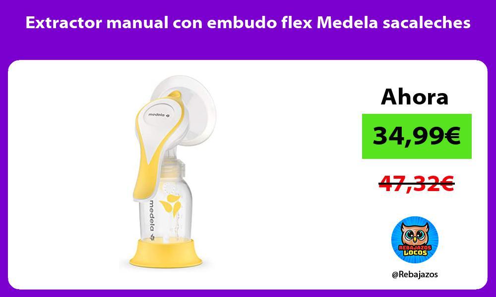 Extractor manual con embudo flex Medela sacaleches