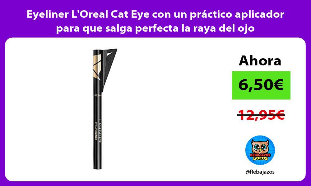 Eyeliner LOreal Cat Eye con un practico aplicador para que salga perfecta la raya del ojo