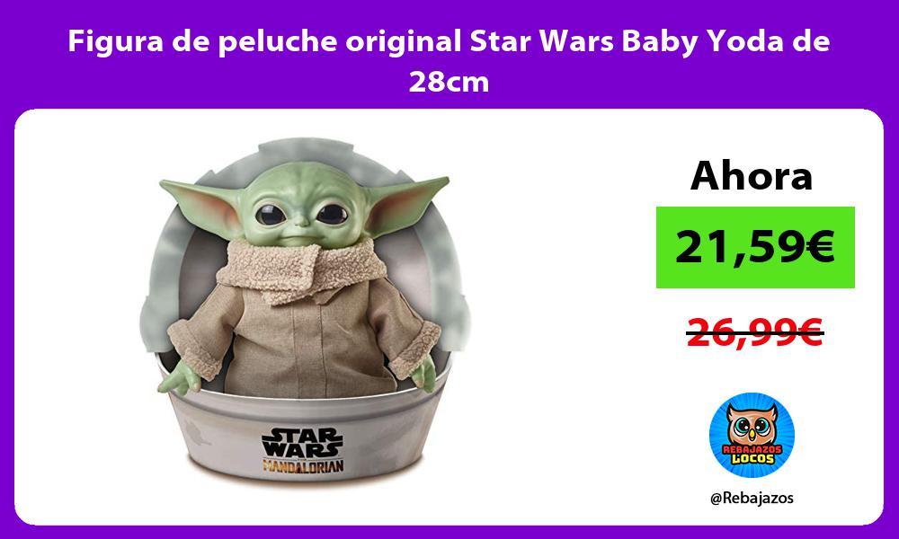 Figura de peluche original Star Wars Baby Yoda de 28cm