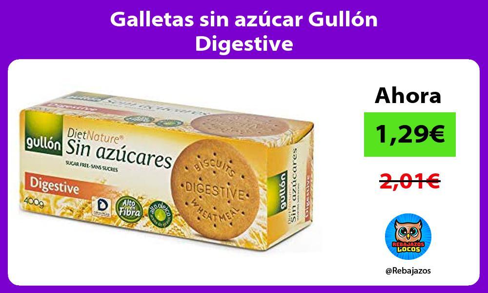 Galletas sin azucar Gullon Digestive