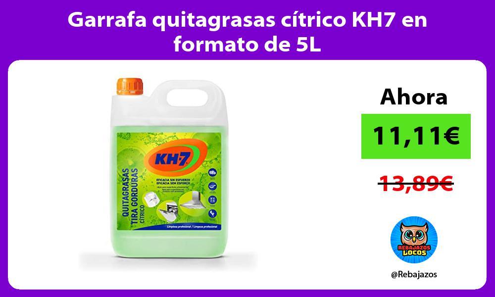 Garrafa quitagrasas citrico KH7 en formato de 5L