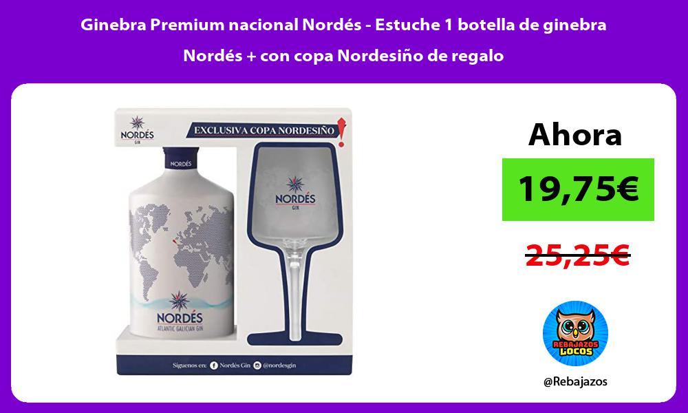 Ginebra Premium nacional Nordes Estuche 1 botella de ginebra Nordes con copa Nordesino de regalo