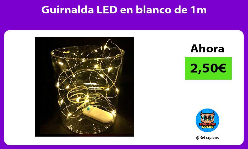 Guirnalda LED en blanco de 1m