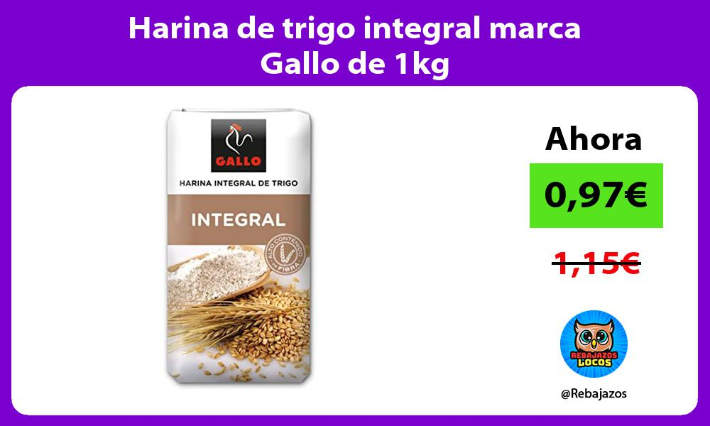 Harina de trigo integral marca Gallo de 1kg