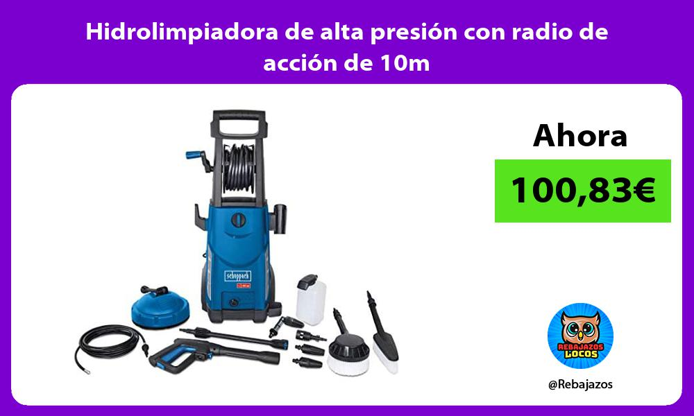 Hidrolimpiadora de alta presion con radio de accion de 10m