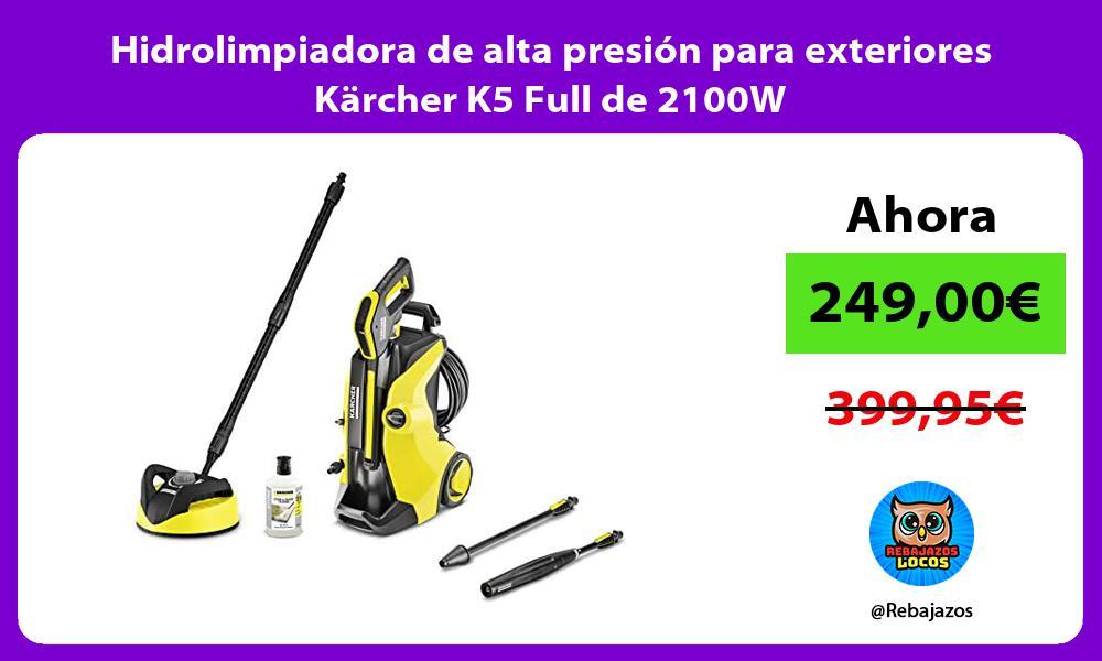 Hidrolimpiadora de alta presion para exteriores Karcher K5 Full de 2100W
