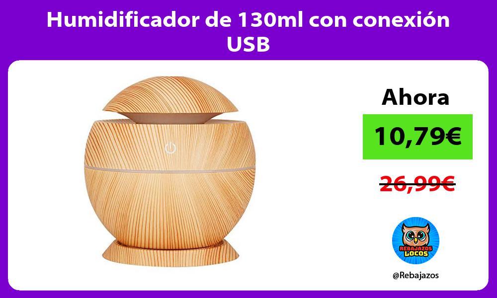 Humidificador de 130ml con conexion USB