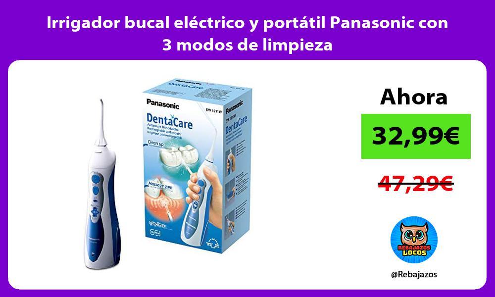 Irrigador bucal electrico y portatil Panasonic con 3 modos de limpieza